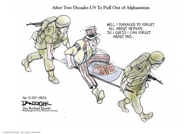 Jeff Danziger  Jeff Danziger's Editorial Cartoons 2021-04-15 soldier