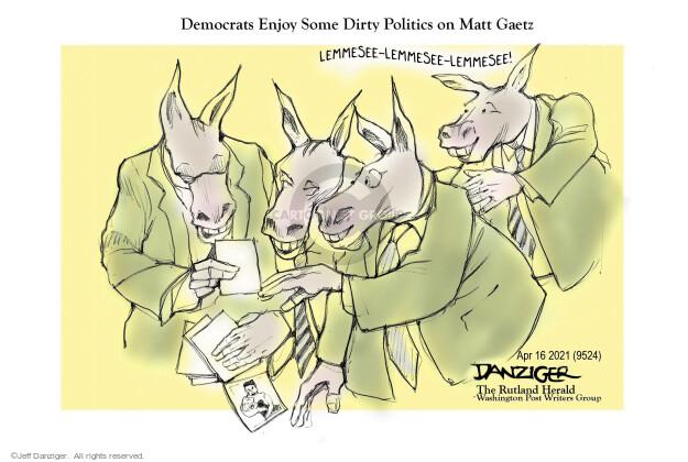 Jeff Danziger  Jeff Danziger's Editorial Cartoons 2021-04-16 some