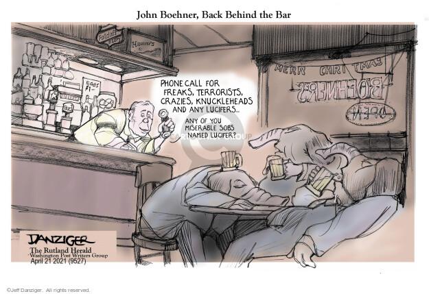 Jeff Danziger  Jeff Danziger's Editorial Cartoons 2021-04-20 call