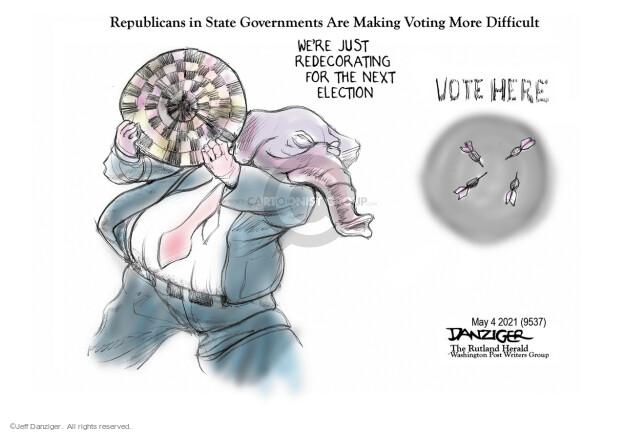 Jeff Danziger  Jeff Danziger's Editorial Cartoons 2021-05-03 voter