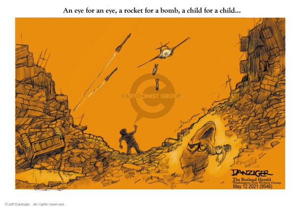 Jeff Danziger  Jeff Danziger's Editorial Cartoons 2021-05-13 violence