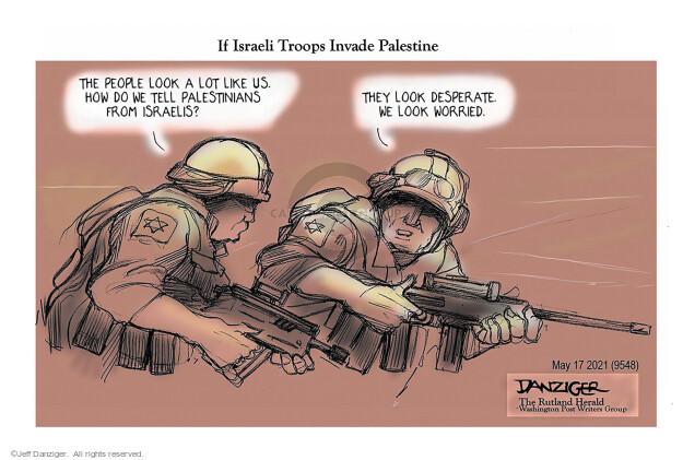 Jeff Danziger  Jeff Danziger's Editorial Cartoons 2021-05-17 violence
