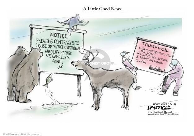 Jeff Danziger  Jeff Danziger's Editorial Cartoons 2021-06-03 presidential