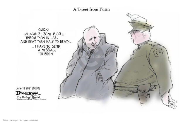 Jeff Danziger  Jeff Danziger's Editorial Cartoons 2021-06-11 American president
