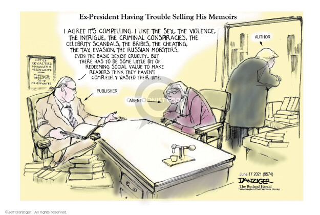 Jeff Danziger  Jeff Danziger's Editorial Cartoons 2021-06-17 violence