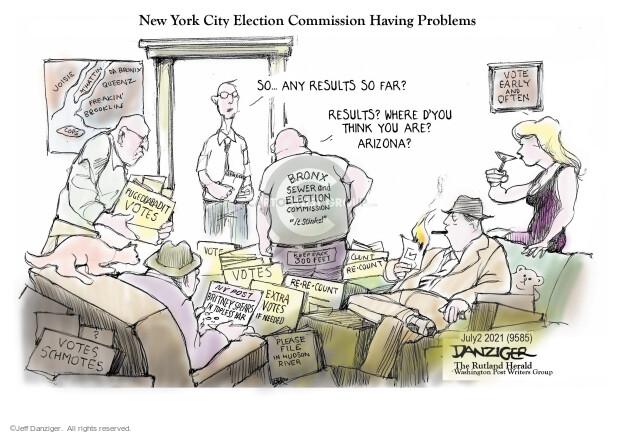 Jeff Danziger  Jeff Danziger's Editorial Cartoons 2021-07-02 election