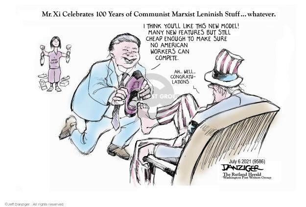 Jeff Danziger  Jeff Danziger's Editorial Cartoons 2021-07-05 American president
