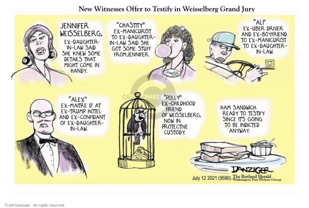 Jeff Danziger  Jeff Danziger's Editorial Cartoons 2021-07-12 Donald