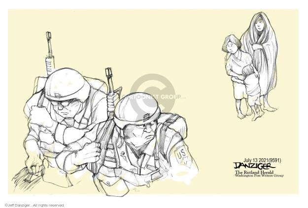 Jeff Danziger  Jeff Danziger's Editorial Cartoons 2021-07-13 violence