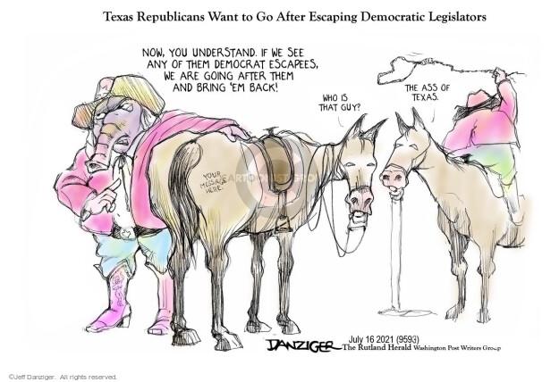 Jeff Danziger  Jeff Danziger's Editorial Cartoons 2021-07-16 election