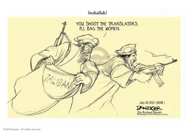 Jeff Danziger  Jeff Danziger's Editorial Cartoons 2021-07-26 military
