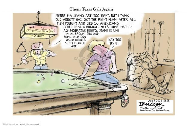 Jeff Danziger  Jeff Danziger's Editorial Cartoons 2021-08-05 voter