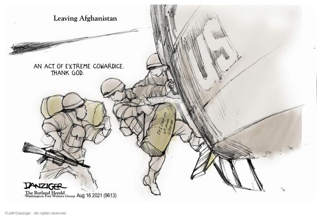 Jeff Danziger  Jeff Danziger's Editorial Cartoons 2021-08-16 soldier