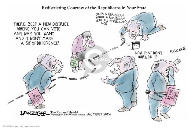 Jeff Danziger  Jeff Danziger's Editorial Cartoons 2021-08-18 voter