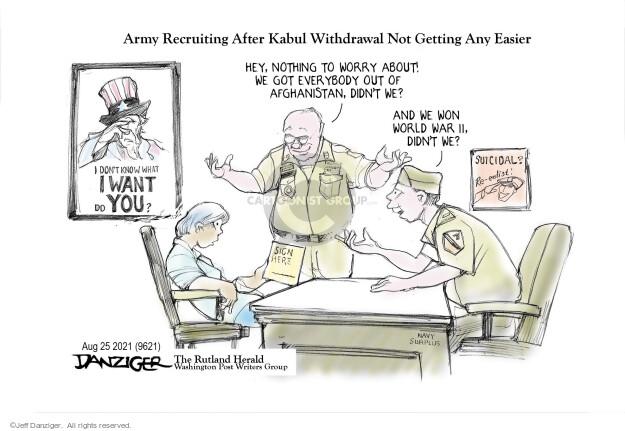 Jeff Danziger  Jeff Danziger's Editorial Cartoons 2021-08-25 soldier