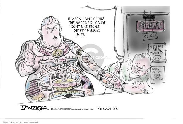 Jeff Danziger  Jeff Danziger's Editorial Cartoons 2021-09-08 vaccine