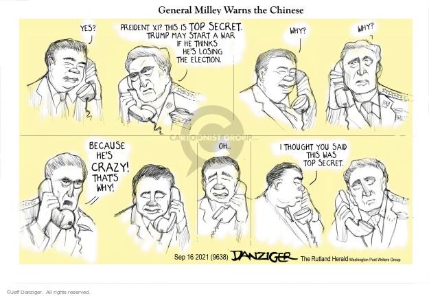 Jeff Danziger  Jeff Danziger's Editorial Cartoons 2021-09-16 American president
