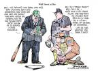 Cartoonist Jeff Danziger  Jeff Danziger's Editorial Cartoons 2010-06-21 baseball umpire
