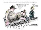 Cartoonist Jeff Danziger  Jeff Danziger's Editorial Cartoons 2010-07-28 illegal immigrant