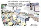 Cartoonist Jeff Danziger  Jeff Danziger's Editorial Cartoons 2011-04-04 no child left behind