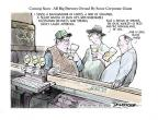 Cartoonist Jeff Danziger  Jeff Danziger's Editorial Cartoons 2013-02-03 beverage