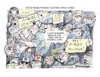 Cartoonist Jeff Danziger  Jeff Danziger's Editorial Cartoons 2013-08-11 baseball stadium