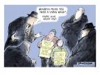 Cartoonist Jeff Danziger  Jeff Danziger's Editorial Cartoons 2013-12-30 compensation