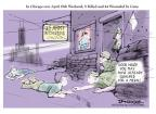 Cartoonist Jeff Danziger  Jeff Danziger's Editorial Cartoons 2014-04-23 military recruit