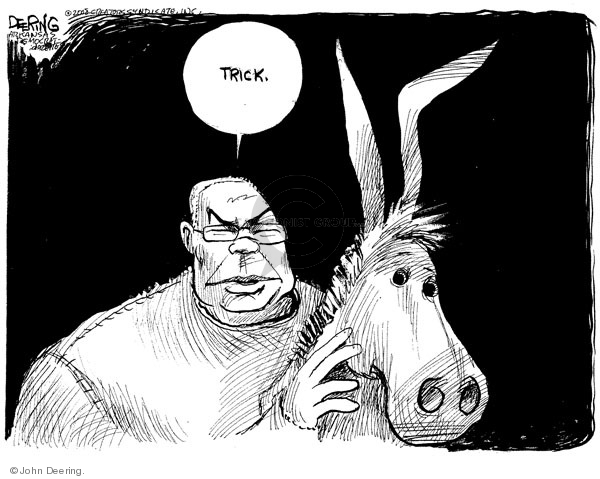 John Deering  John Deering's Editorial Cartoons 2008-10-21 2008 election endorsement