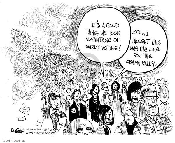 John Deering  John Deering's Editorial Cartoons 2008-10-23 early voter