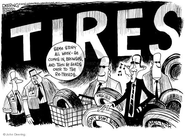 Cartoonist John Deering  John Deering's Editorial Cartoons 2008-11-21 Tom Daschle