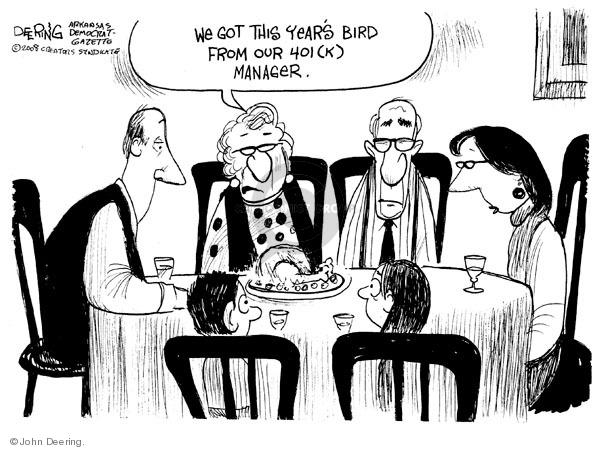 Cartoonist John Deering  John Deering's Editorial Cartoons 2008-11-26 family