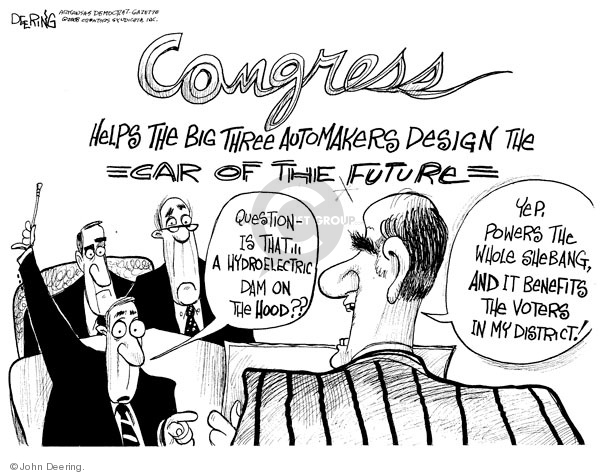 Cartoonist John Deering  John Deering's Editorial Cartoons 2008-12-08 Congress
