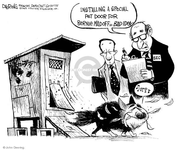 Cartoonist John Deering  John Deering's Editorial Cartoons 2008-12-19 investment