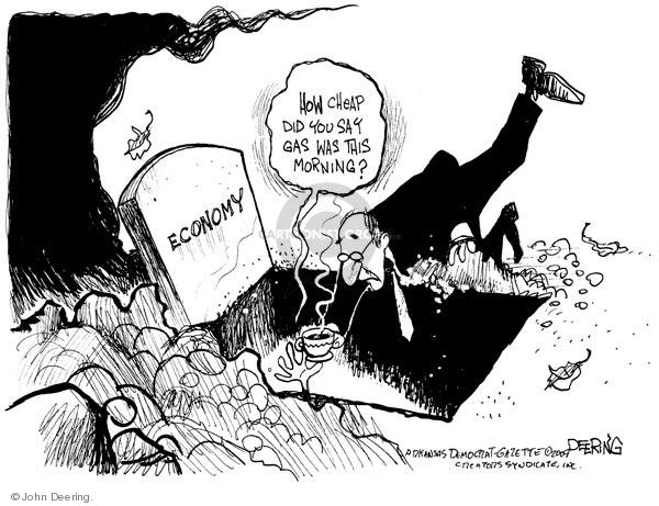 Cartoonist John Deering  John Deering's Editorial Cartoons 2009-01-07 gas price
