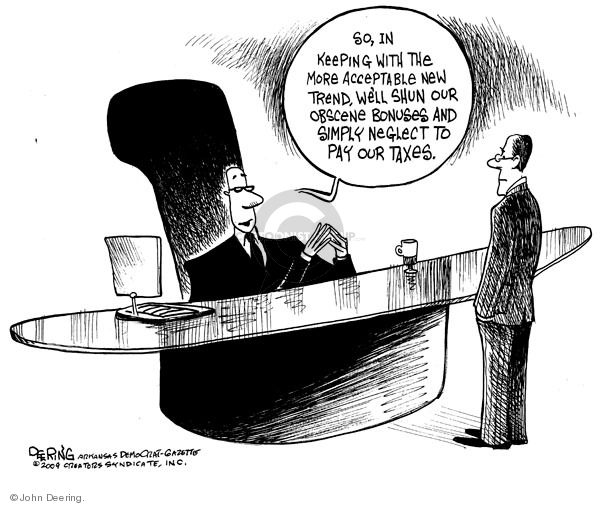 Cartoonist John Deering  John Deering's Editorial Cartoons 2009-02-05 cabinet
