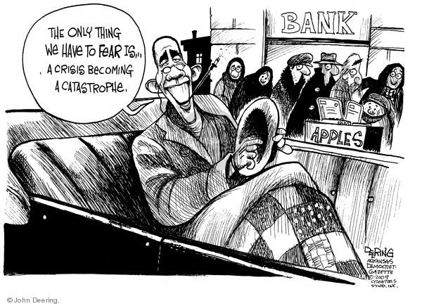 Cartoonist John Deering  John Deering's Editorial Cartoons 2009-02-06 recession