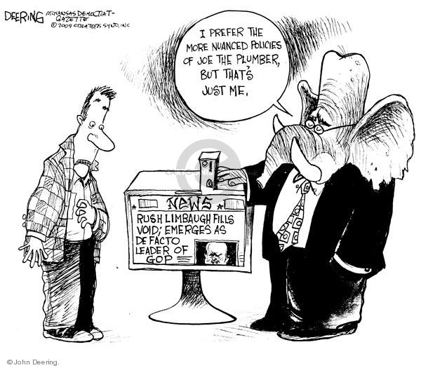 John Deering  John Deering's Editorial Cartoons 2009-02-09 policy