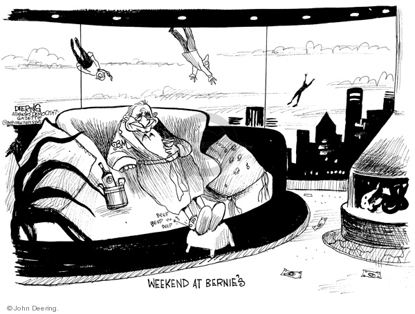 Cartoonist John Deering  John Deering's Editorial Cartoons 2009-02-18 investment