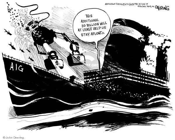 John Deering  John Deering's Editorial Cartoons 2009-03-03 afloat