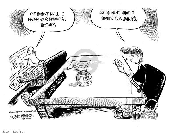 Cartoonist John Deering  John Deering's Editorial Cartoons 2009-05-14 banker