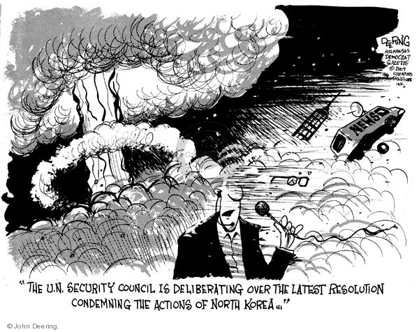John Deering  John Deering's Editorial Cartoons 2009-05-26 North Korea Nuclear