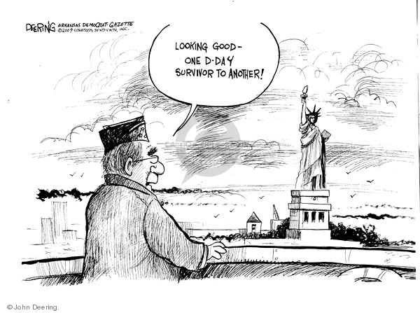 John Deering  John Deering's Editorial Cartoons 2009-06-08 D-Day
