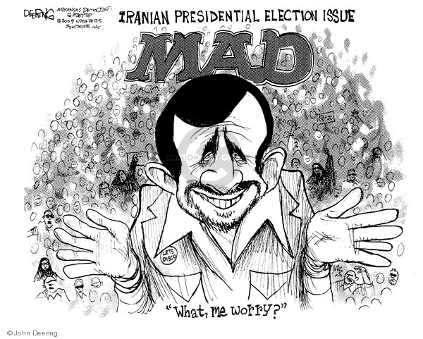 John Deering  John Deering's Editorial Cartoons 2009-06-17 Iranian election