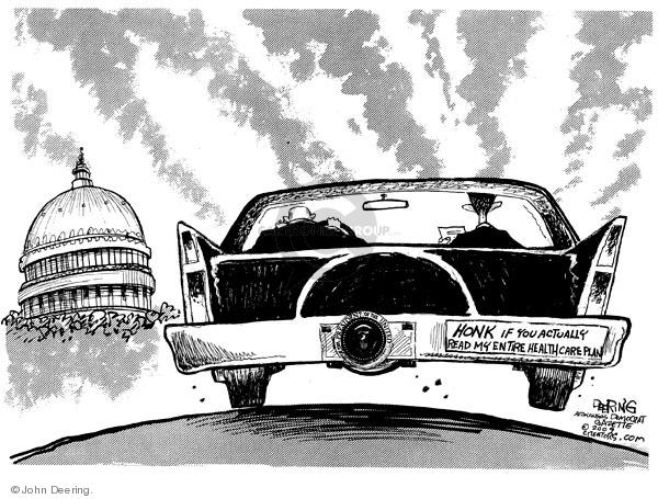 Cartoonist John Deering  John Deering's Editorial Cartoons 2009-07-20 health care legislation