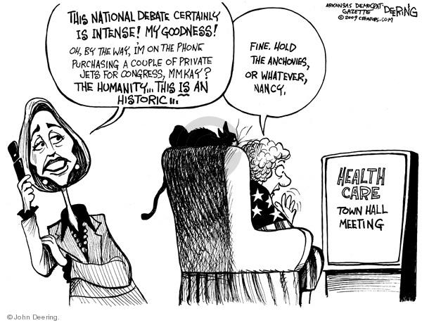 Cartoonist John Deering  John Deering's Editorial Cartoons 2009-08-11 hall