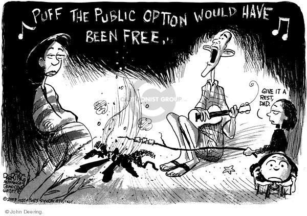John Deering  John Deering's Editorial Cartoons 2009-08-26 health care reform