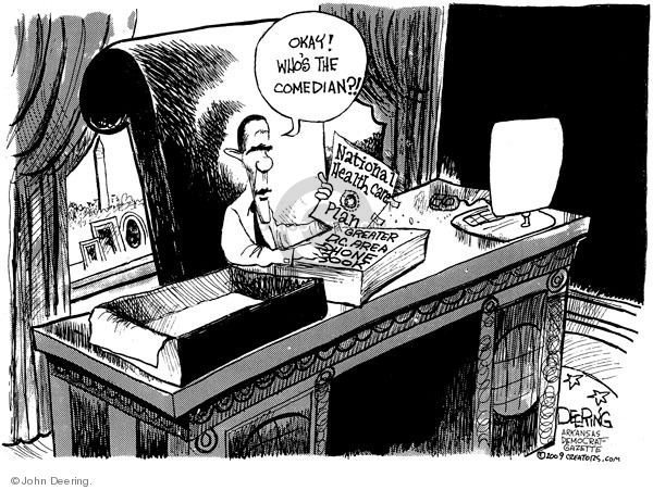 John Deering  John Deering's Editorial Cartoons 2009-10-30 White House