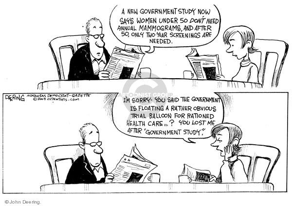John Deering  John Deering's Editorial Cartoons 2009-11-18 health care reform