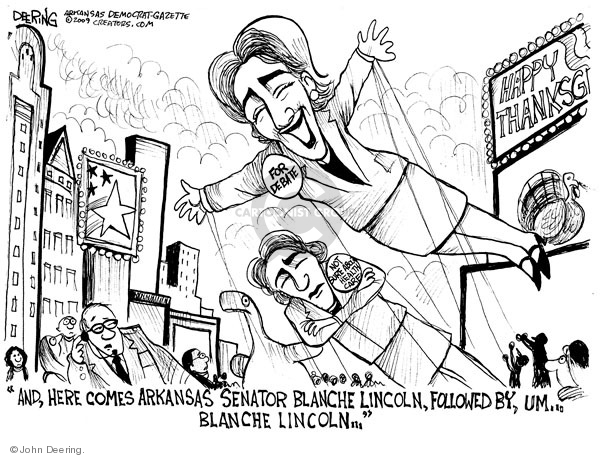 John Deering  John Deering's Editorial Cartoons 2009-11-24 Arkansas